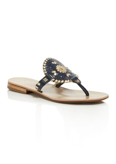 Jack Rogers Women's Georgica Leather Thong Sandals