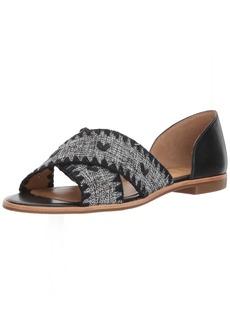 Jack Rogers Women's Lindsey Textile Flat Sandal  8 Medium US