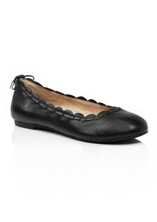 Jack Rogers Women's Lucie II Scalloped Leather Ballet Flats