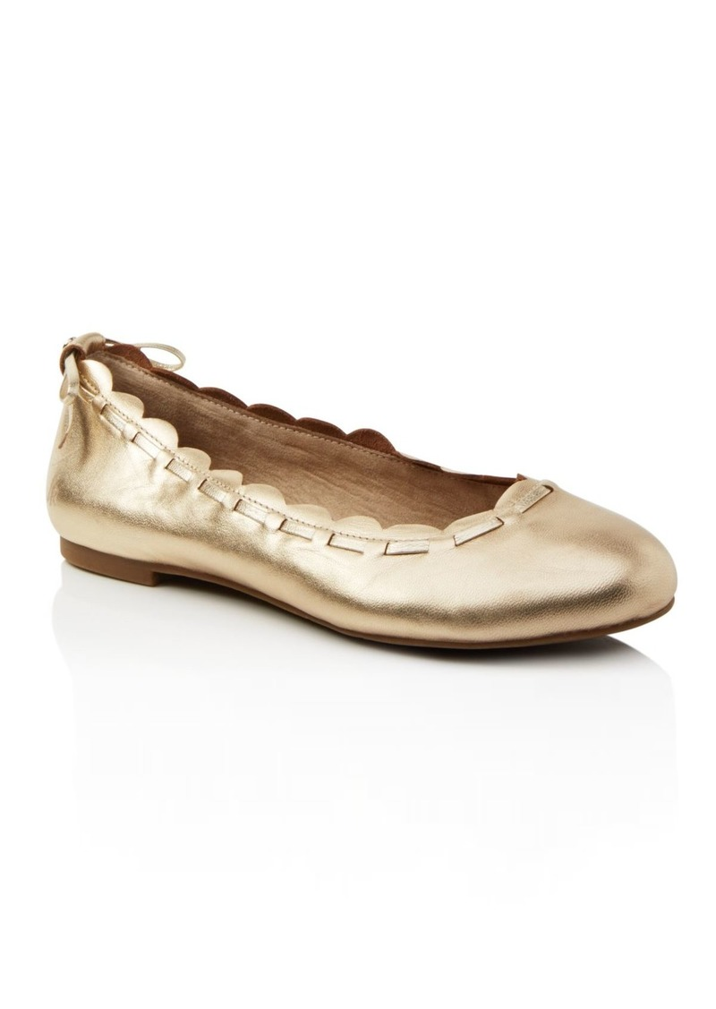 619900675c8b1 Women's Lucie Scalloped Leather Ballet Flats