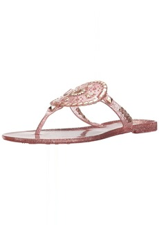 Jack Rogers Women's Sparkle Georgica Jelly Sandal  11 Medium US
