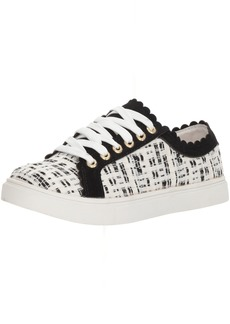 Jack Rogers Women's Teagan Sneaker White Boucle Black  Medium US