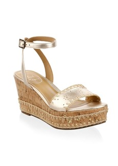 Jack Rogers Lennon Leather Wedge Sandals