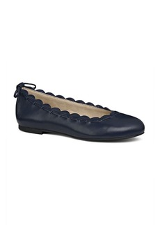 Jack Rogers Lucie II Scalloped Leather Ballet Flats