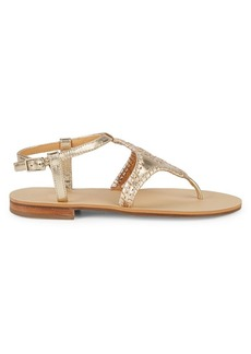 Jack Rogers Maci Leather Thong Sandals