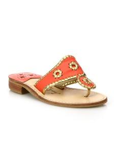 Jack Rogers Nantucket Gold Leather Sandals