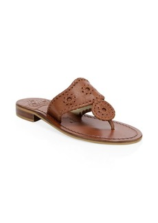 Jack Rogers New Noah Leather Toe Thong Slides