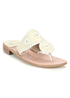 Jack Rogers Palm Beach Leather Thong Sandals