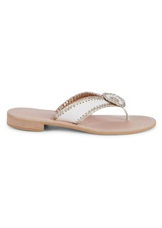 Jack Rogers Ro Laced Leather Sandals