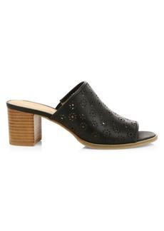 Jack Rogers Ronnie Lasercut Leather Mule Sandals