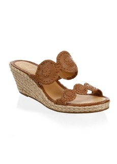 Jack Rogers Shelby Whipstitched Leather Sandals