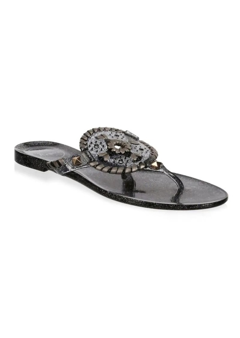 e8521fbbf862 Jack Rogers Sparkle Georgica Jelly Sandals