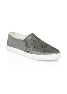Jack Rogers Violet Leather Slip-On Sneakers