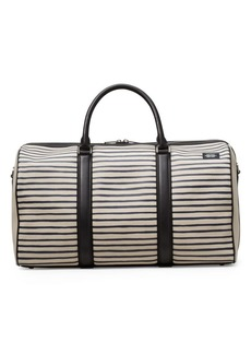 Jack Spade Industrial Canvas Striped Duffle Bag