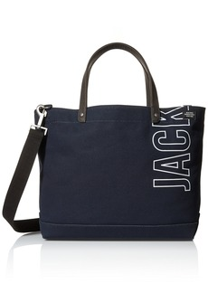 Jack Spade Men's 20th Anniversary Industrial Canvas Logo Coal Bag