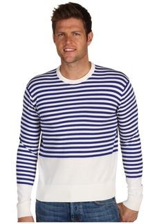 Jack Spade Men's Border Stripe Long Sleeve Casual Sweater