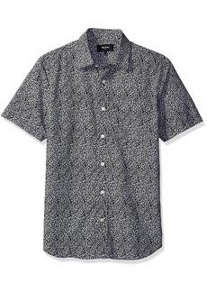 Jack Spade Men's Clift Short Sleeve Confetti Print Point Collar Shirt