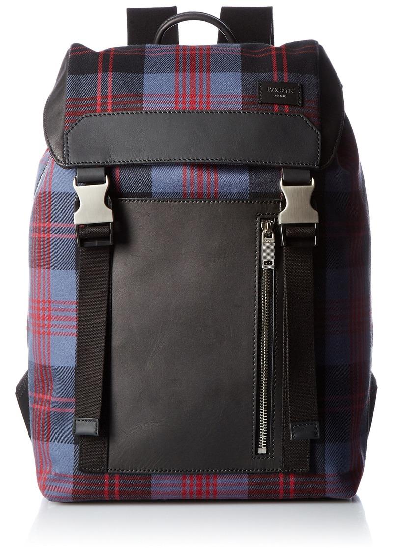 Jack Spade Men's Cocharron Plaid Army Backpack