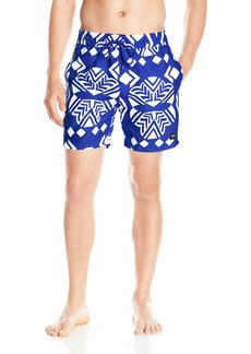 Jack Spade Men's Exploded Mexican Flower Swim Trunk
