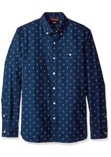 Jack Spade Men's Long Sleeve Diamond Quad Print Shirt