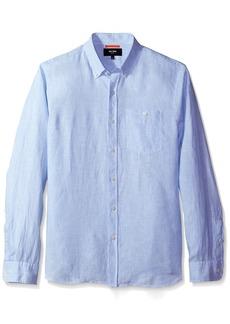 Jack Spade Men's Long Sleeve Linen Micro Stripe