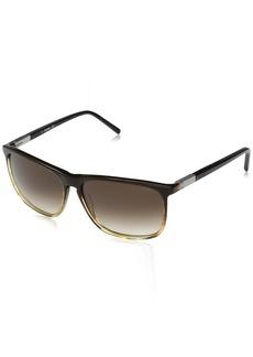 Jack Spade Men's Sanders Rectangular Sunglasses Tan Fade/Warm Brown Gradient