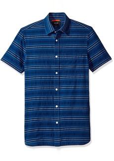Jack Spade Men's Stripe Short Sleeve Dobby Shirt