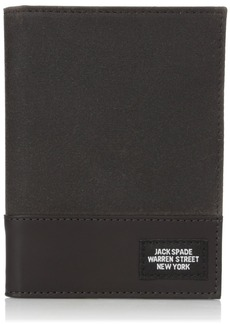 Jack Spade Men's Waxwear Passport Wallet