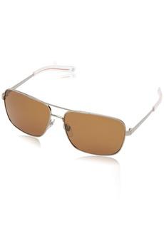 Jack Spade Men's Wright Polarized Rectangular Sunglasses