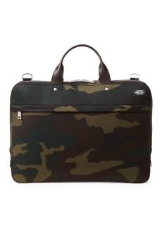Jack Spade Water-Resistant Camo Waxwear Slim Briefcase