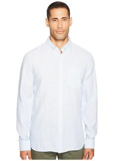 Jack Spade Long Sleeve Linen Micro Stripe Shirt