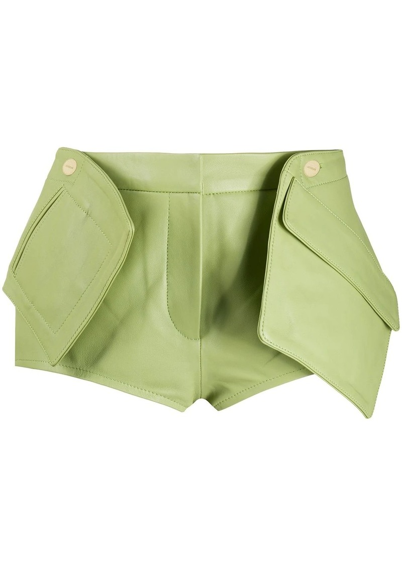 Jacquemus 3D-pocket leather shorts