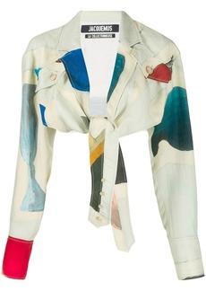 Jacquemus abstract print cropped shirt