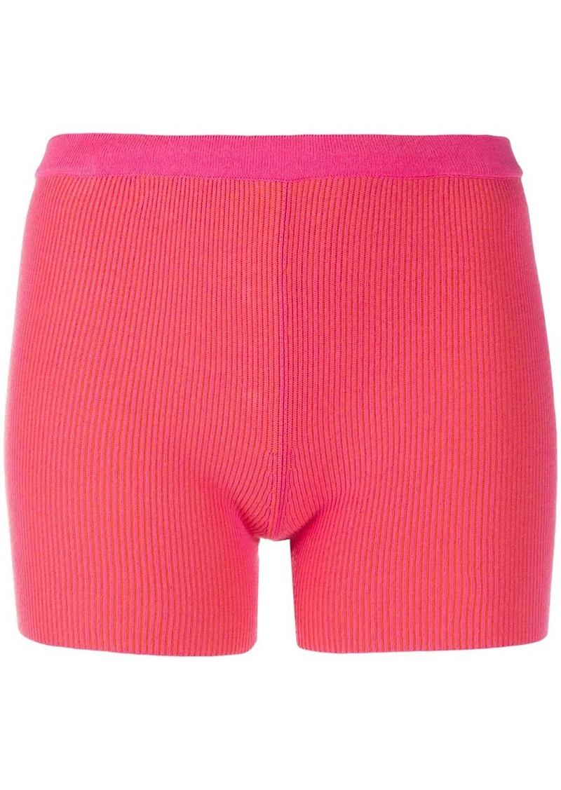 Jacquemus Arancia two-tone knitted shorts