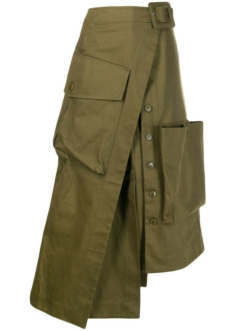 Jacquemus asymmetric wrap skirt