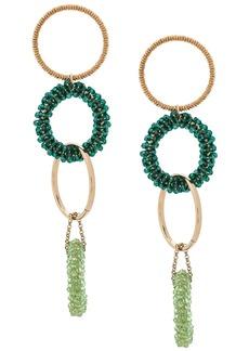 Jacquemus beaded hoop earrings