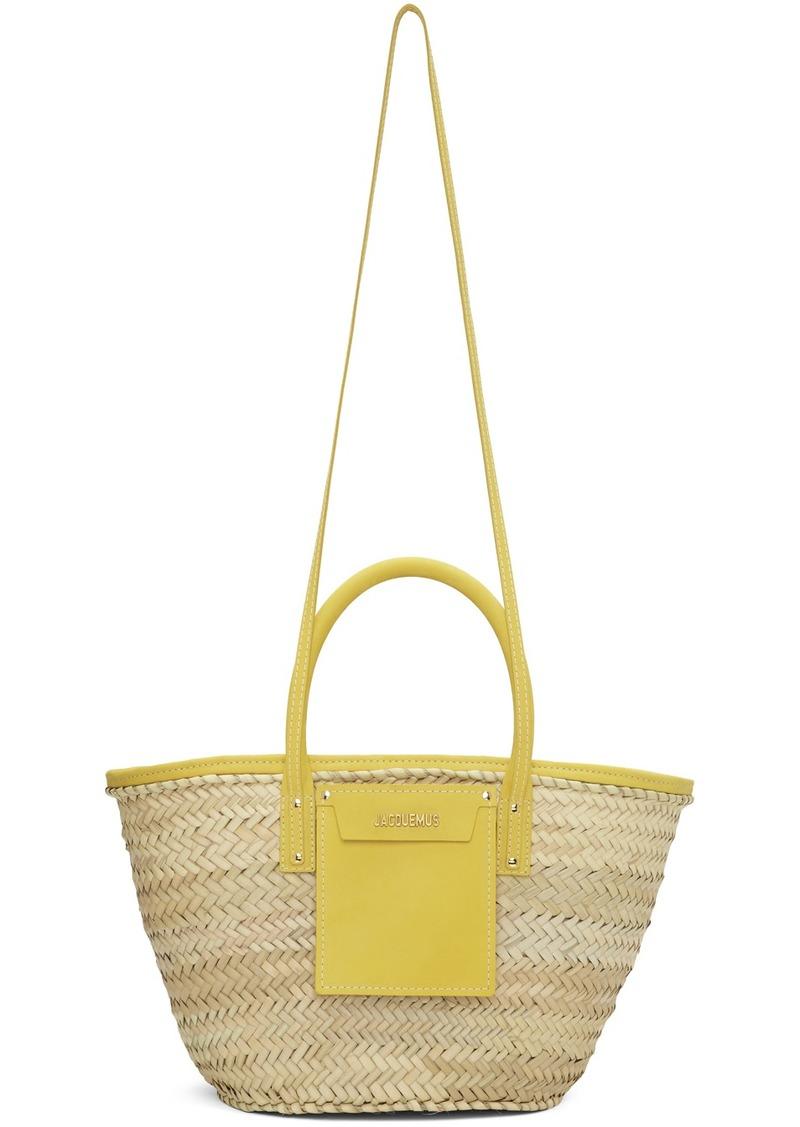 Jacquemus Beige & Yellow 'Le Panier Soleil' Tote