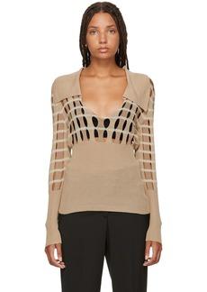 Jacquemus Beige 'La Maille Lamia' Sweater