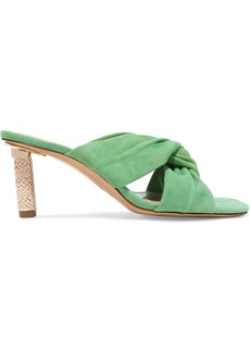 Jacquemus Bellagio Twisted Suede Mules