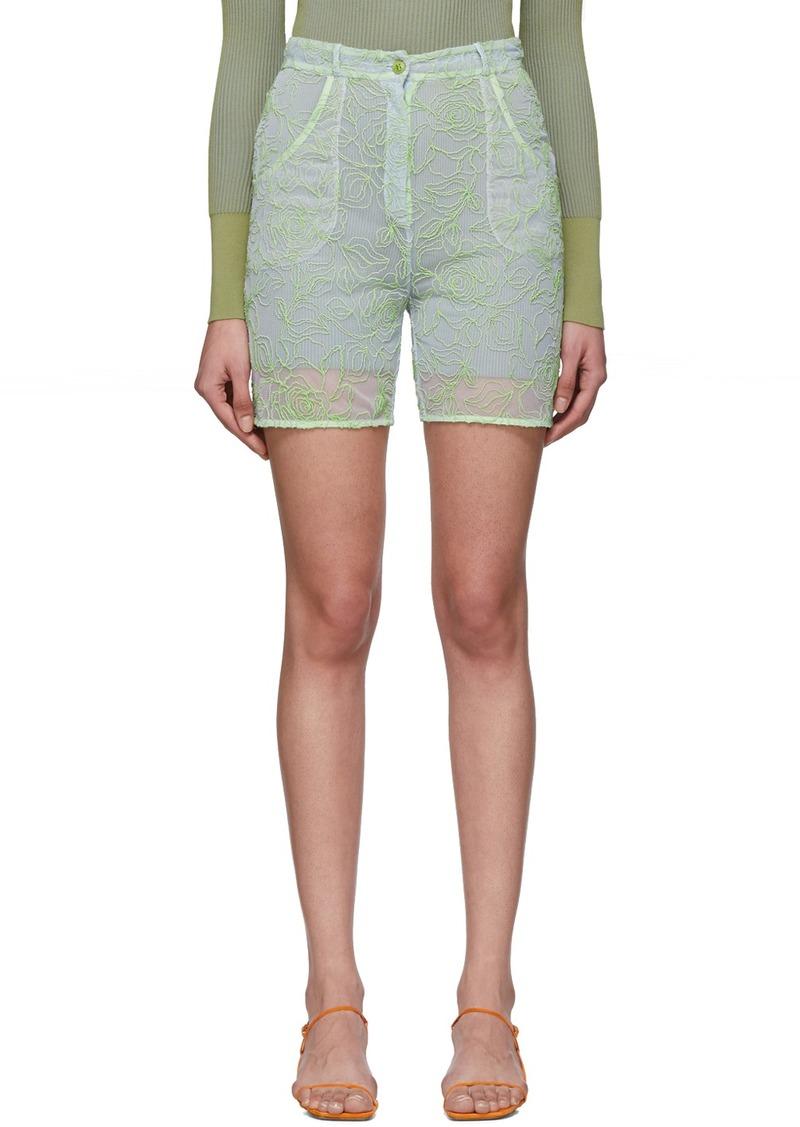 Jacquemus Blue & Green 'Le Short Lavandou' Shorts