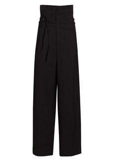 Jacquemus Buckle High-Waist Wide-Leg Trouser