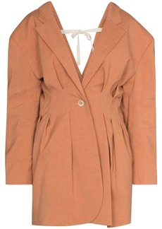 Jacquemus Camargue pleated back suit jacket