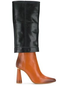 Jacquemus contrast knee-high boots