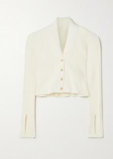 Jacquemus Cropped Knitted Cardigan
