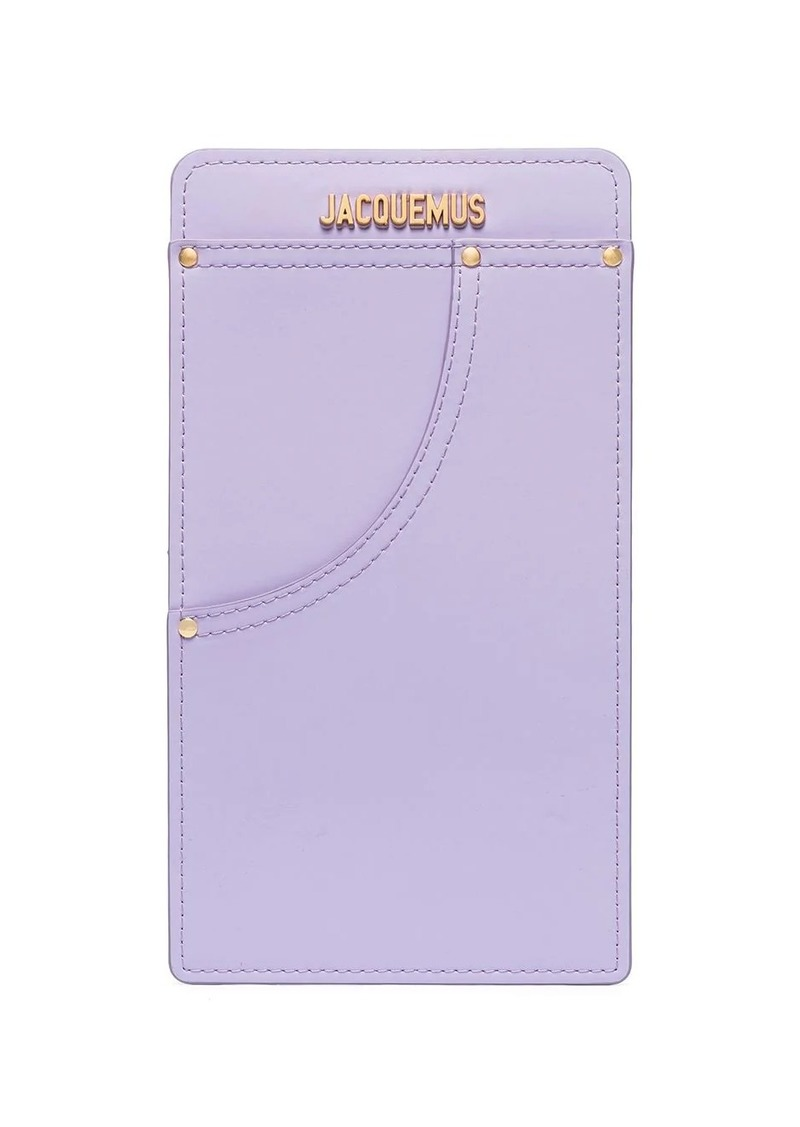 Jacquemus detachable pocket logo plaque pouch