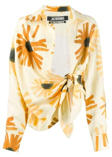 Jacquemus floral print tie-waist shirt
