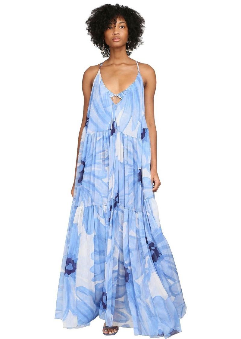 Jacquemus Floral Printed Mousseline Maxi Dress
