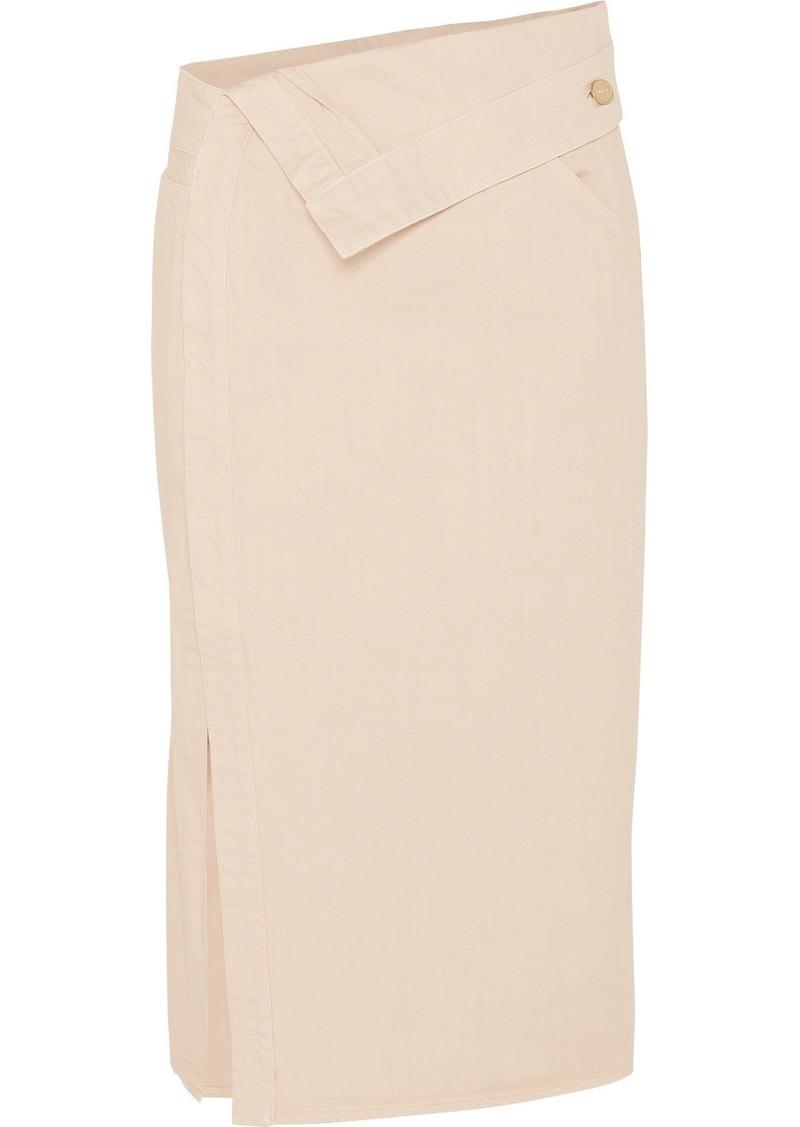 Jacquemus Folded Denim Midi Skirt