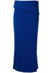 Jacquemus folded knitted skirt