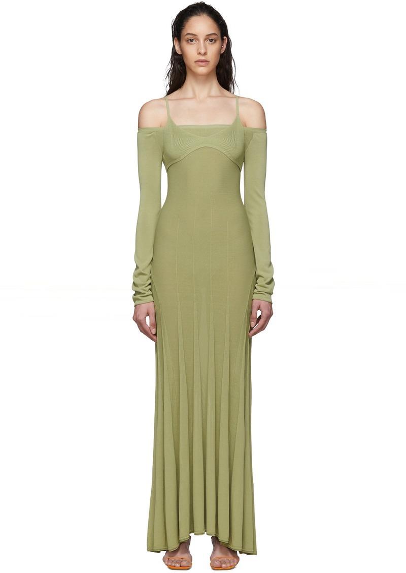 Jacquemus Green 'La Robe Maille Valensole' Dress